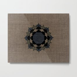 Lotus Mandala on Fabric Metal Print