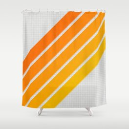 Orange Color Drift Shower Curtain