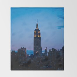 Empire State Building at Sunset Throw Blanket