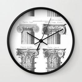 Greek columns Wall Clock