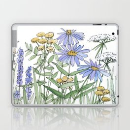 Asters and Wild Flowers Botanical Nature Floral Laptop & iPad Skin