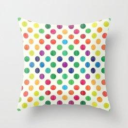 Lovely Dots Pattern III Throw Pillow