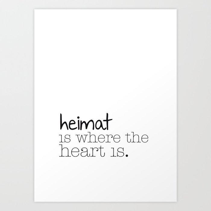 Heimat NO1 Art Print