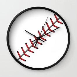 Baseball Lace line Wall Clock