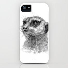 Meerkat-portrait G035 iPhone Case