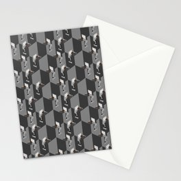 Cubicles Pattern Stationery Cards