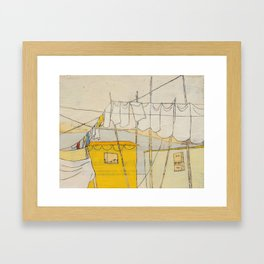to see & trust in another new beginning Framed Art Print