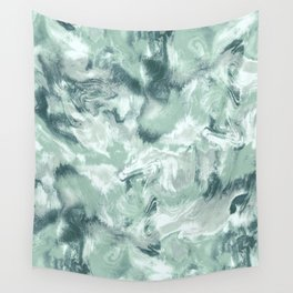 Marble Mist Green Grey Wall Tapestry
