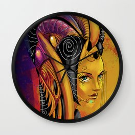 Rainy lady Wall Clock