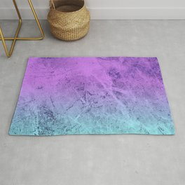 Pink Blue Cloudy Gradient Rug