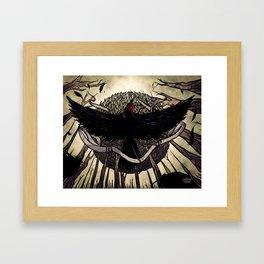 Yatagarasu, the Dark Sun Framed Art Print