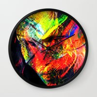 graffiti Wall Clocks featuring Graffiti !! by shiva camille
