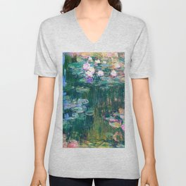 water lilies : Monet Unisex V-Neck