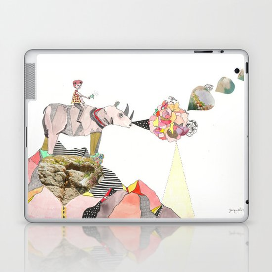 Rhinos Smell Roses Too Laptop & iPad Skin