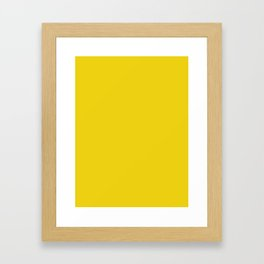 CLASSIC LUSH YELLOW SOLID COLOR - Mix & Match Framed Art Print