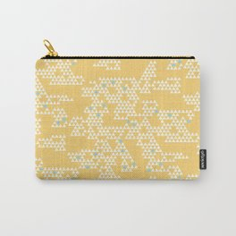 Modern Geometric Triangles - Yellow Carry-All Pouch