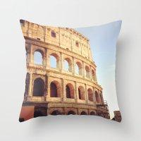 rome Throw Pillows featuring Rome  by Anna's design