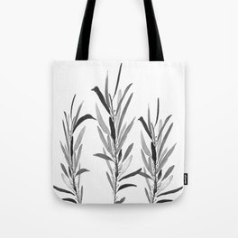 Eucalyptus Branches Black And White Tote Bag