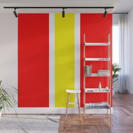 TEAM COLORS 10...YELLOW ,RED Wall Mural