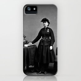 Dr. Mary Walker Wearing Medal Of Honor - Mathew Brady - Circa 1865 iPhone Case