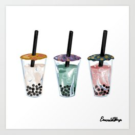 Boba Tea Art Print