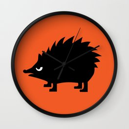 Angry Animals: hedgehog Wall Clock