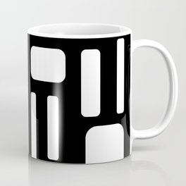 Black and White Rectangles Design Coffee Mug