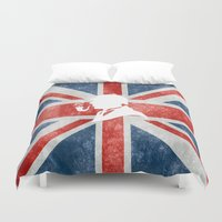sherlock holmes Duvet Covers featuring SHERLOCK HOLMES - BRITISH by alexa