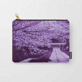 Sakura Monocrome Purple Variation Carry-All Pouch