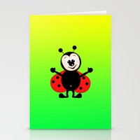ladybug Stationery Cards featuring Ladybug by Digital-Art