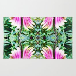 208 - abstract flower design Rug