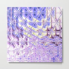 Triangle Glass Tiles 312 Metal Print