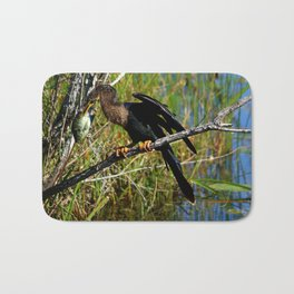 A Darters Meal Bath Mat