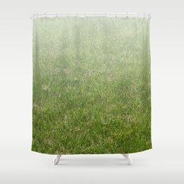 Light-to-Dark Green Ombre Gradient Grass Shower Curtain
