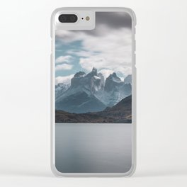 Somewhere over the mountain range Clear iPhone Case