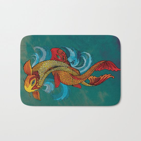 A tale of two fins. Bath Mat
