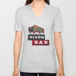 The Bison Bar Unisex V-Neck