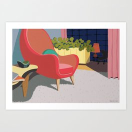 Come In And Sit Down Art Print