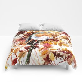 Robin Bird and Colors of Fall Comforters