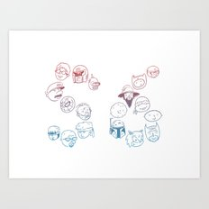 Pop Faces Art Print