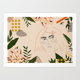Jungle girl Art Print