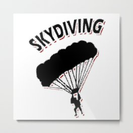 Skydiver Extreme Sports Hobby Metal Print