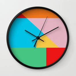 Circle Series - Summer Palette No. 2 Wall Clock