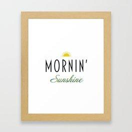 Morning' sunshine Framed Art Print