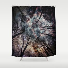 Starry Sky in the Forest Shower Curtain