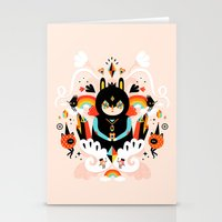 queen Stationery Cards featuring Rainbow Queen by Muxxi
