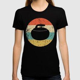 Curling Vintage Retro Curling Stone T-shirt