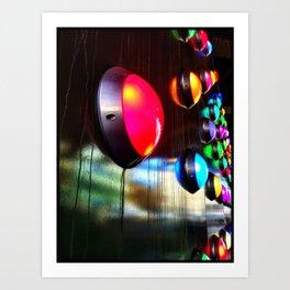 Coloured lights  Art Print
