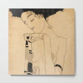 """Egon Schiele """"Standing Girl"""" Metal Print"""