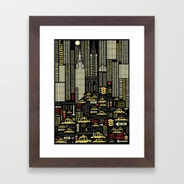 New York (Portrait) Framed Art Print